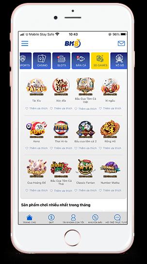 Chọn mục 3D Games trên App