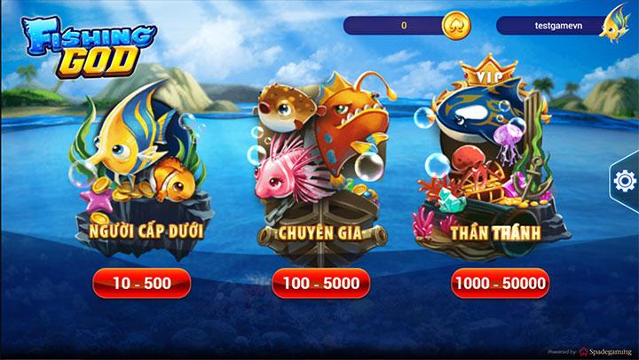 Phòng chơi bắn cá God